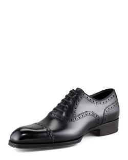 TOM FORD - Edward Brogue-Trim Oxford