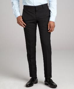 PRADA  - Wool Flat Front Straight Leg Pants