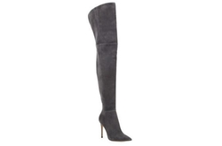 Gianvito Rossi - Lea Cuissard Over-The-Knee Suede Point-Toe Boots