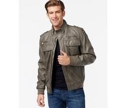 Calvin Klein - Faux-Leather Bomber Jacket