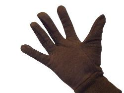 PACKAGING SUPPLIES BY MAIL - Brown Jersey Gloves