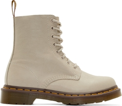 Dr. Martens - Ivory Soft Leather Pascal Boots