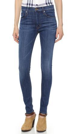Hudson  - Barbara High Waist Super Skinny Jeans