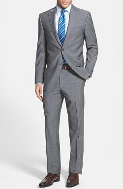 Peter Millar - Classic Fit Grey Wool Suit