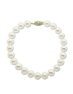 Lord & Taylor  - Yellow Gold Freshwater Pearl Strand Bracelet