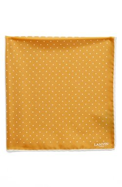 Lanvin - Polka Dot Silk Pocket Square