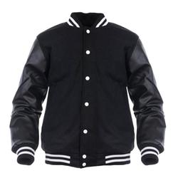 Angel Cola - Leather Letterman Jacket
