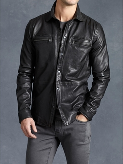 John Varvatos - Lambskin Shirt Jacket