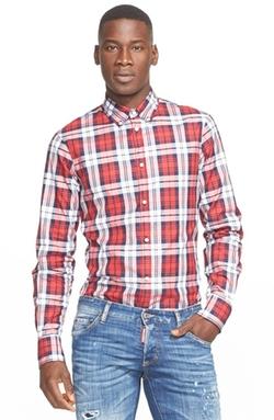 Dsquared2  - Extra Trim Fit Plaid Shirt