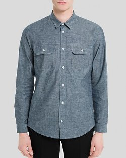 Sandro Worker - Chambray Button Down Shirt