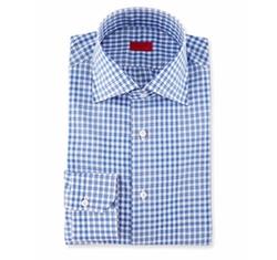 Isaia  - Irregular-Check Dress Shirt