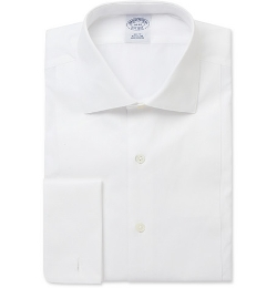Brooks Brothers - White Bib-Front Cotton Tuxedo Shirt
