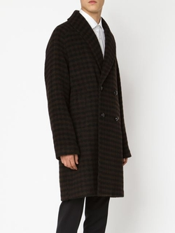 Massimo Piombo - Checked Double Breasted Coat