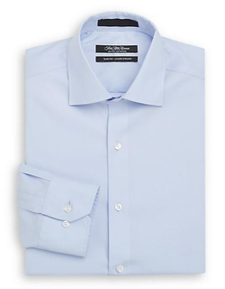 Saks Fifth Avenue  - Slim-Fit Solid Cotton Dress Shirt