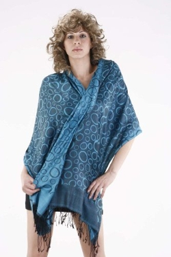 Legend - Silk Reversible Bubbles Shawl
