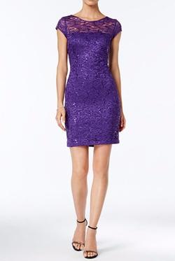 Nine West  - Sequin Lace Sheath Dress
