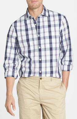 Nordstrom  - Trim Fit Washed Plaid Sport Shirt