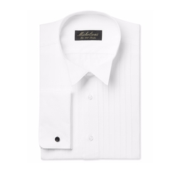 Michelsons - Pleated Point French Cuff Tuxedo Shirt
