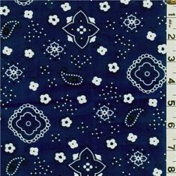 Fashion Fabric Club - Navy Bandana Print Bolt