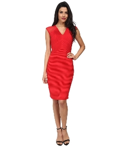 Calvin Klein  - Cocktail with Illusion Cap Sleeve Dress