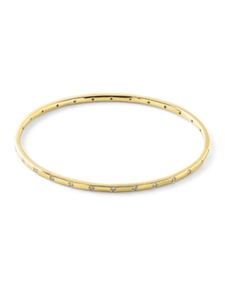 Ippolita - Gold Senso Thin 28-Stone with Diamonds Bangle