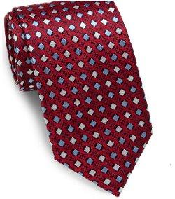 Saks Fifth Avenue - Neat Diamond-Printed Silk Tie