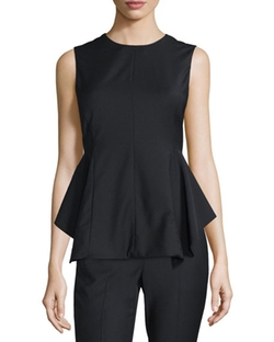 Theory - Kalsing Cl. Continuous Peplum Top, Black