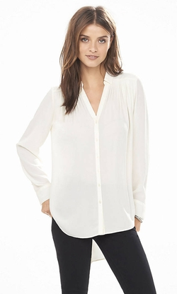 Express - Long Sleeve Pleated Tunic Blouse