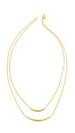 Gorjana  - Crescent Double Layer Necklace