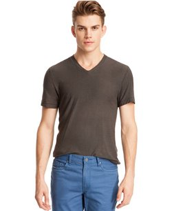 Kenneth Cole  - Reaction Core Slub V-Neck T-Shirt
