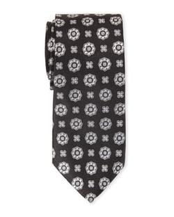 Isaac Mizrahi  - Medallion Print Tie
