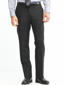 Banana Republic - Classic Fit Solid Wool Trouser