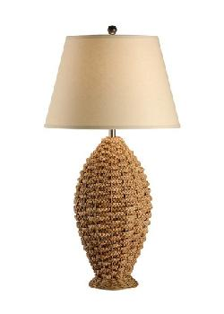 Tommy Bahama Lamps - Rope In Oval Rattan Table Lamp - 35""