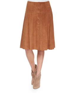 Joie  - Mylon Suede Skirt