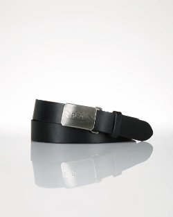 Ralph Lauren - Plaque Leather Belt