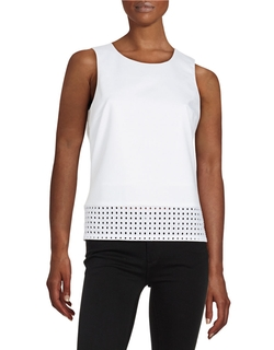 Calvin Klein - Eyelet-Trimmed Shell Top