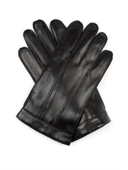 Burberry London  - Tech Touch Leather Gloves