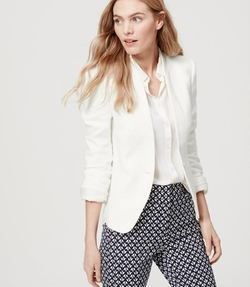 Loft - Textured Collarless Blazer