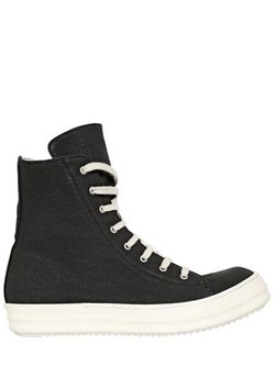 Rick Owens - Cotton Canvas High Top Sneakers