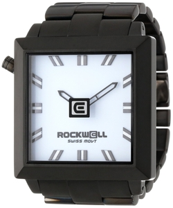 Rockwell Time - Black Plated Stainless Steel And White Watch