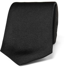 TURNBULL & ASSER  - RIBBED SILK TIE