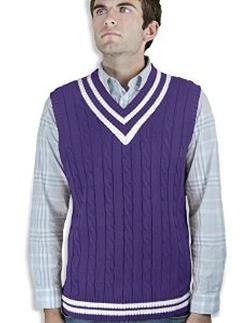 Blue Ocean - Cable Sweater Vest