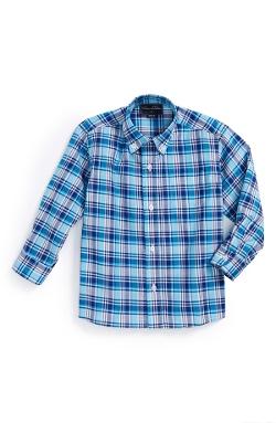 Oscar de la Renta  - Plaid Woven Shirt