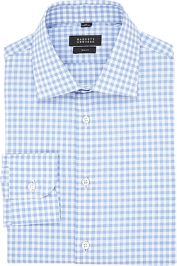 Barneys New York - Gingham Poplin Shirt