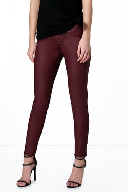 Boohoo  - Lacey Pull On Leather Look Jeggings