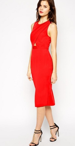 Asos Petite  - Cross Front Cutout Pencil Dress
