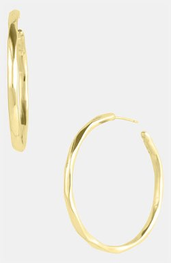 Ippolita  - Glamazon  Number 3 Faceted 18k Gold Hoop Earrings