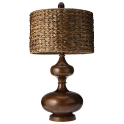 Mudhut - Gourd Table Lamp with Seagrass Shade
