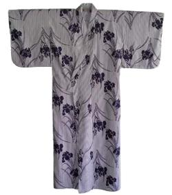 Amazon - Cotton Iris Design Japanese Kimono TK276