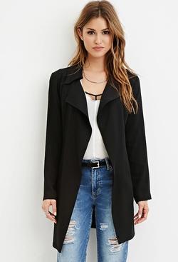 Forever21 - Longline Belted Coat